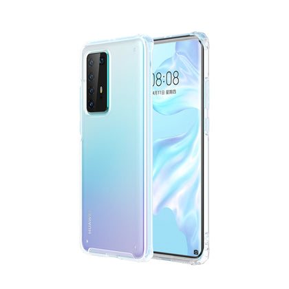 For Huawei P40 Pro Four-corner Shockproof TPU + PC Protective Case(White)