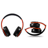 B7 Wireless Bluetooth Headset Foldable Headphone Adjustable Earphones with Microphone(Black Red)