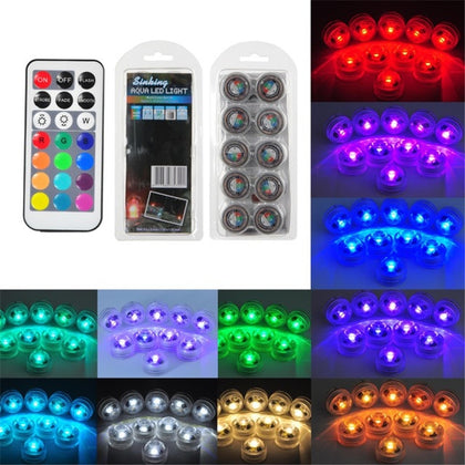 12 in 1 Remote Control Diving Light 3CM Diamond Twist LED Light