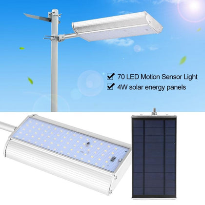 70 LEDs Solar Lamp Outdoor Waterproof Aluminum Alloy Remote Control Motion Sensing Street Lamp