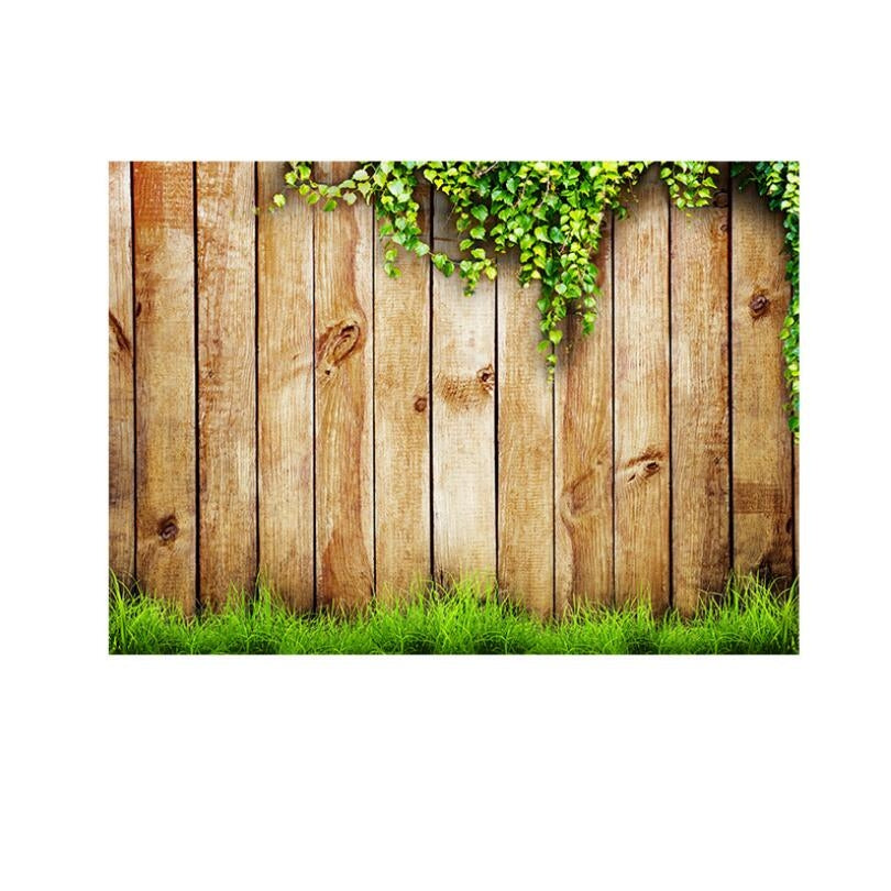 2.1m x 1.5m Flower Vine Vintage Wooden Board for Children Photographing Photography Background Cloth