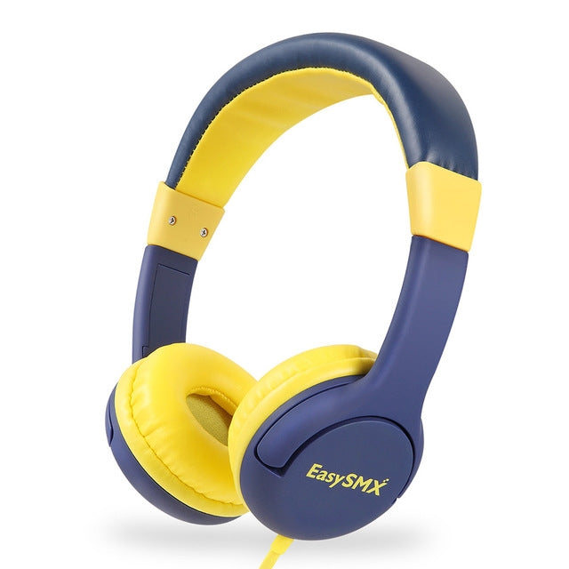 EasySMX Kids Headphones KM-666 Headset Headphones with 80-85dB Child Safe Volume Headset for Xiaomi /iPhone /iPad Smartphone(KM-666 Yellow)
