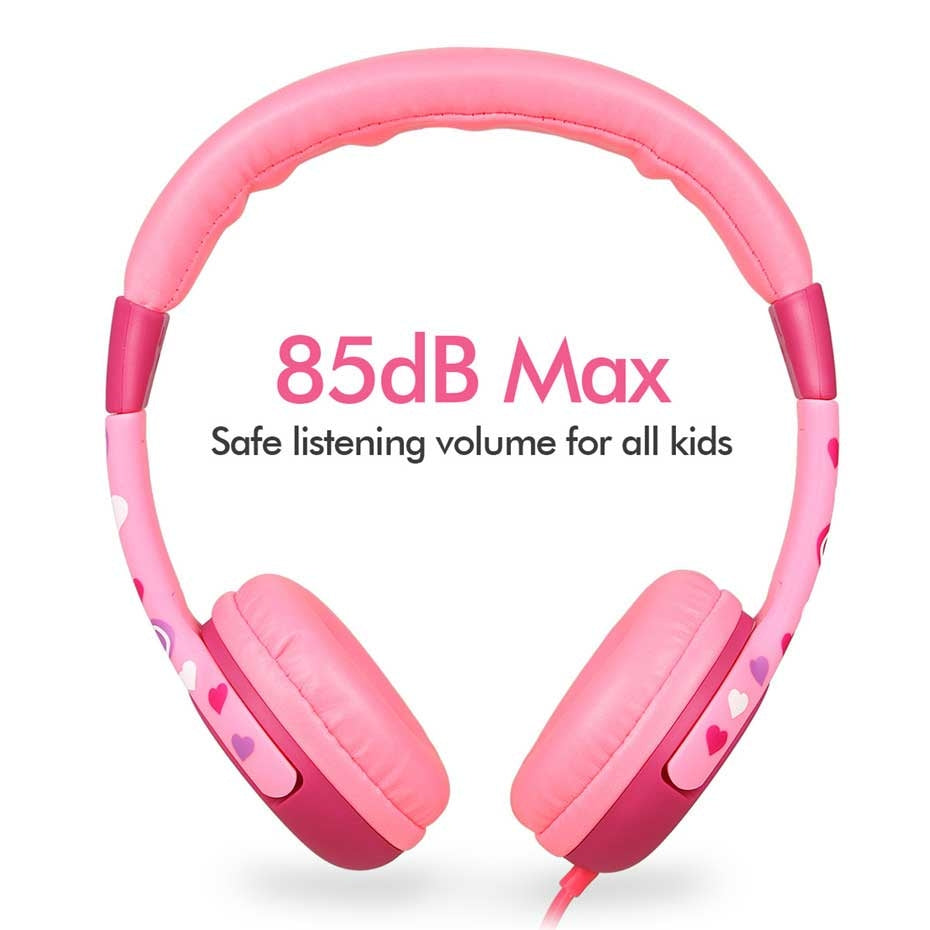 EasySMX Kids Headphones KM-666 Headset Headphones with 80-85dB Child Safe Volume Headset for Xiaomi /iPhone /iPad Smartphone(Angel Wings Pink)