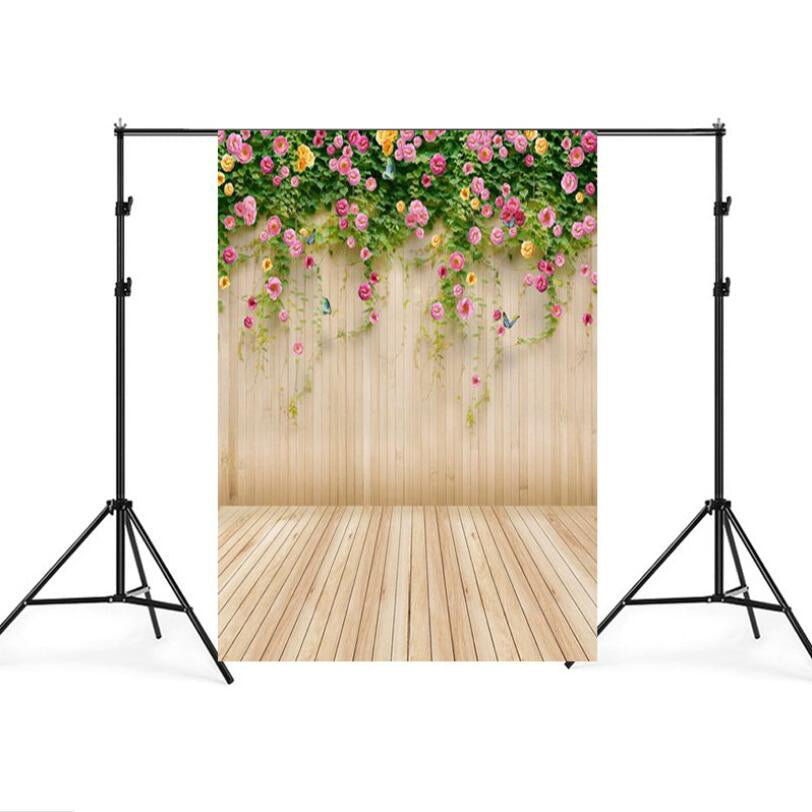 1.5m x 2.1m Simulation Wood Plank Flower Wall Photo Props Photography Background Cloth