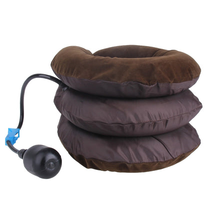 Inflatable Air Cervical Neck Traction Device Soft Head Back Shoulder Neck Ache Massager Headache Pain Relieve Relaxation Brace(Cof