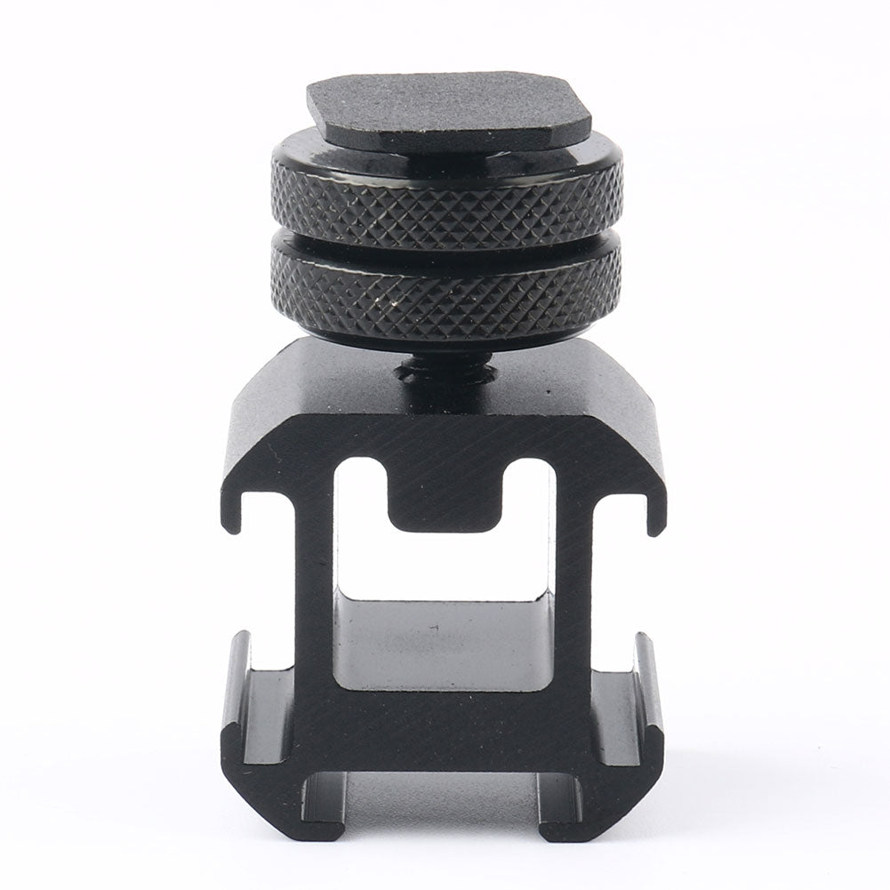 2PCS Universal Camera Rotary PTZ Three-Head Hot Shoe Base