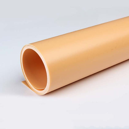 70x140cm Shooting Background Board PVC Matte Board Photography Background Cloth Solid Color Shooting Props(Orange)