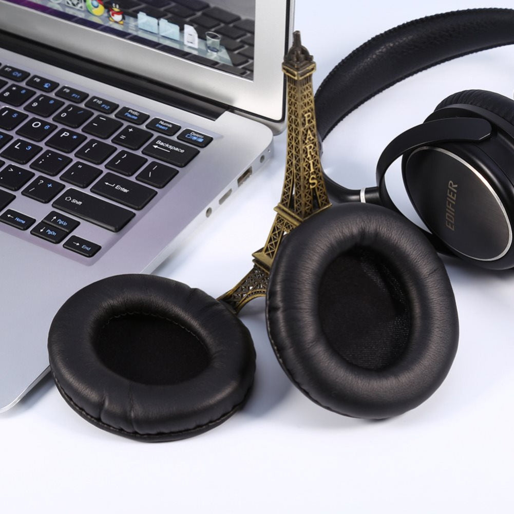 One Pair For Monster DNA Protein Leather + Sponge Headphone Protective Case Earmuffs(White)