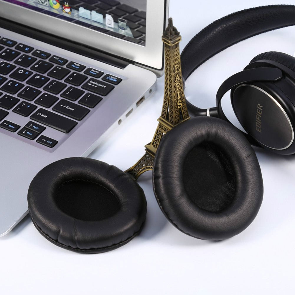 One Pair For Monster DNA Protein Leather + Sponge Headphone Protective Case Earmuffs(Black)