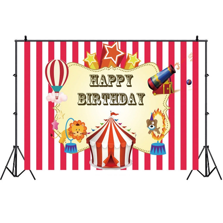 Birthday Party Game Hanging Cloth Photo Circus Background Cloth Photography Studio Props, Size:1.2m x 0.8m(NWH05041)