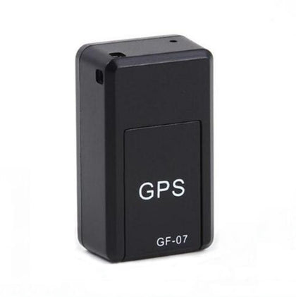 GF07 Locator Mini GPS Tracking Strong Magnetic Positioning Adsorption Anti Lost Device Voice Control Recordable(Black)