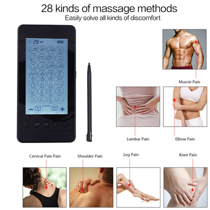 5 PCS 28 Mode Digital Meridian Massage Therapy Device Low Frequency Pulse Massager, Specification:EU Plug