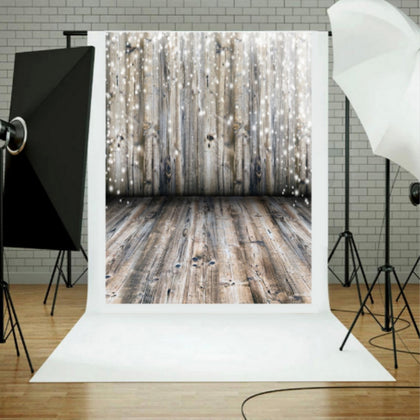 1.5m x 2.1m Photo Studio Venue Layout Wooden Board 3D Studio Background Cloth