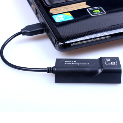 USB to RJ45 10/100 Mbps USB Ethernet Adapter Network card(Black)