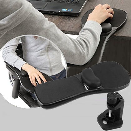 Rotation Computer Desktop Laptop Mouse Tray Elbow Pad Wrist Rest Plate Support Install on Desk and Chair