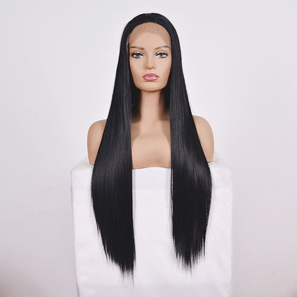 Straight Lace Front Human Hair Wigs, Stretched Length:22 inches, Style:2