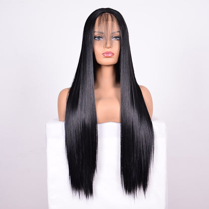 Straight Lace Front Human Hair Wigs, Stretched Length:26 inches, Style:1