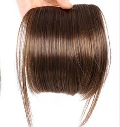 Women Fake Fringe Clip In Bangs Hair Extensions with High Temperature Synthetic Fiber(Light Brown)