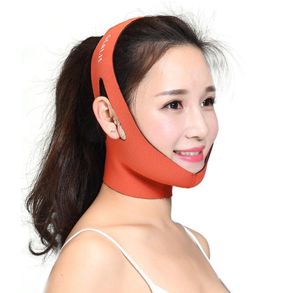 2 PCS Female Facial Care Lifting Firming Bandage(Orange)