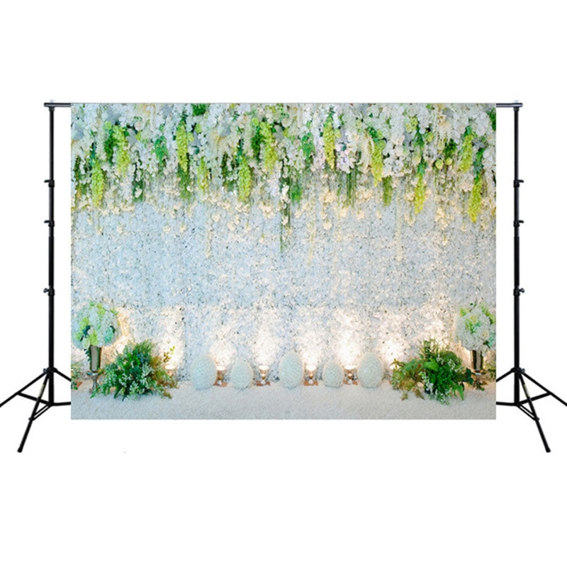 2.1m x 1.5m Flower Wall Simulation Wedding Theme Party Arrangement Photography Background Cloth(W027)