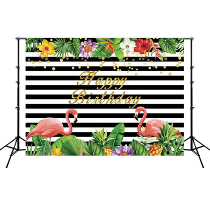 2.1m x 1.5m Flamingo Children Birthday Party Cartoon Photography Background Cloth