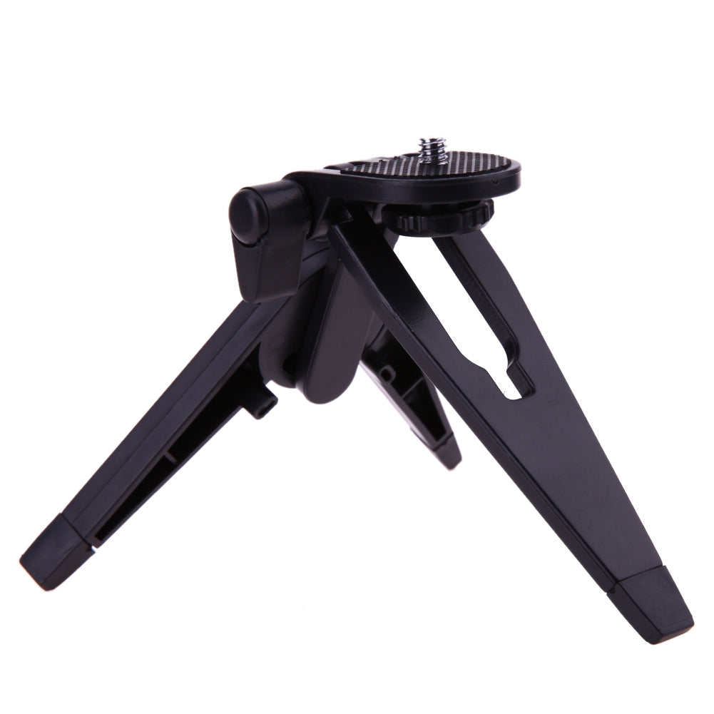 Portable Mini Tripod Rotation Desktop Handle Stabilizer Folding Tripod Stand for Mobile phone Camera