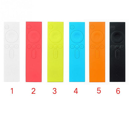 6 PCS Soft Silicone TPU Protective Case Remote Rubber Cover Case for Xiaomi Remote Control I Mi TV Box(White)