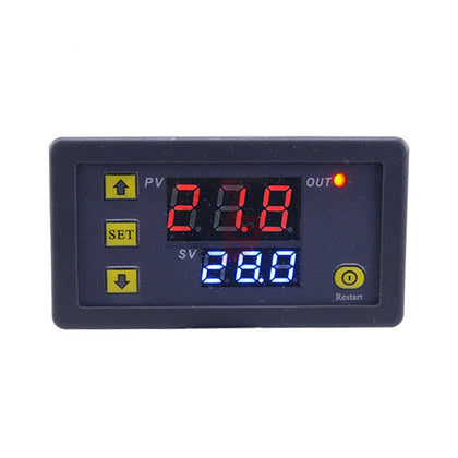 High-precision Microcomputer Intelligent Digital Display Switch Thermostat, Style:12V Power Supply(Red and Blue Display)