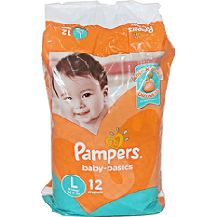 Pampers Baby Basics Large 12's