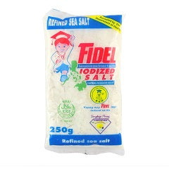 Fidel Iodized Salt Refined Sea Salt 250g