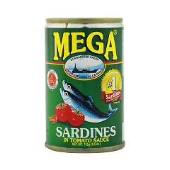 Mega Sardines Green Easy Open 155g