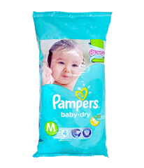 Pampers Baby Dry Medium 4's