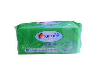 Charmee Breathable Pantyliner Green Tea 20's