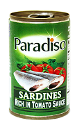 Paradiso Sardines Green Easy Open Can 155g