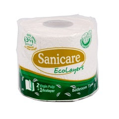Sanicare Bathroom Tissue 3-Ply 600 Sheets
