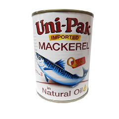 Unipak Mackerel Natural Oil 425g