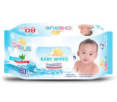 Cherub Baby Wipes Unscented 80's