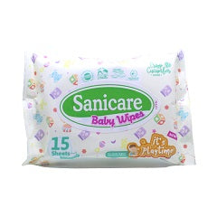 Sanicare Baby Wipes 15's