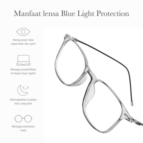 Atlas Clear Gray + Basic Blue Light Protection