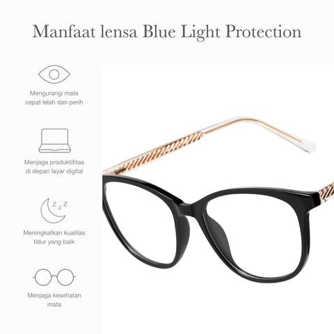 Dakota Black + Basic Blue Light Protection