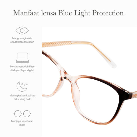 Dakota Clear Brown + Basic Blue Light Protection