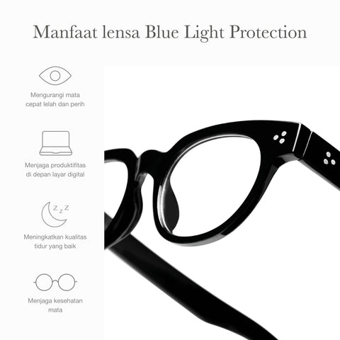 Logan Black + Basic Blue Light Protection