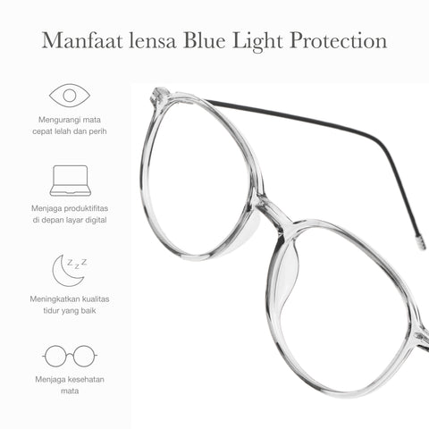 Lumi Clear Gray + Basic Blue Light Protection