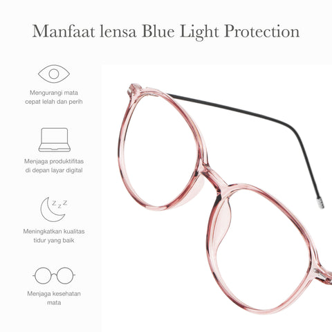 Lumi Clear Pink + Basic Blue Light Protection
