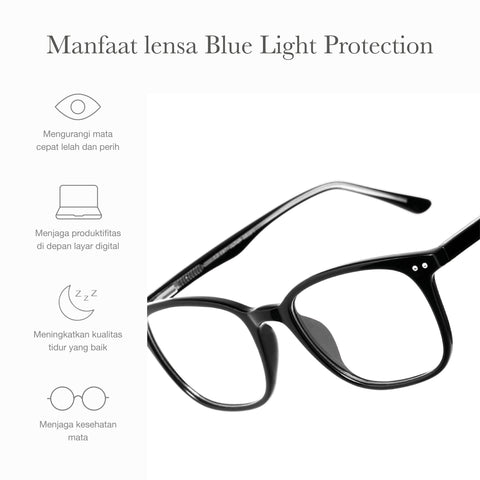 Marlo Black + Basic Blue Light Protection