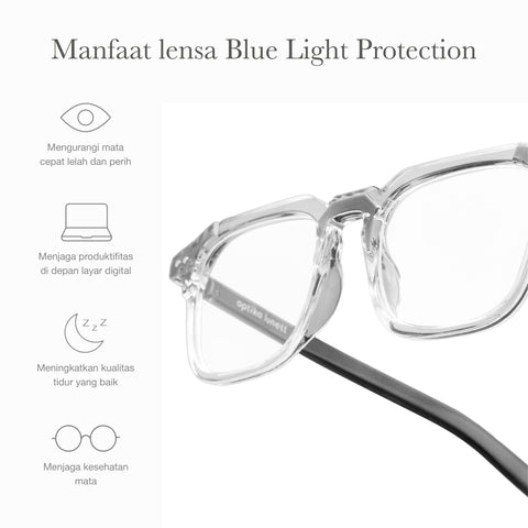 Oliver Clear Gray + Basic Blue Light Protection
