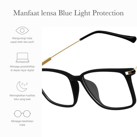 Otto Black + Basic Blue Light Protection