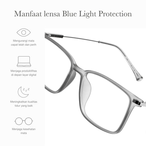 Otto Gray + Basic Blue Light Protection
