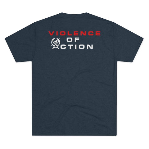 Navy Men's Violence Of Action Tri-Blend Crew Tee