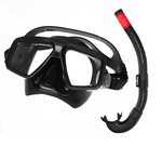 A-TAC Low- Volume Twin Lens Dive Mask & Snorkel Combo